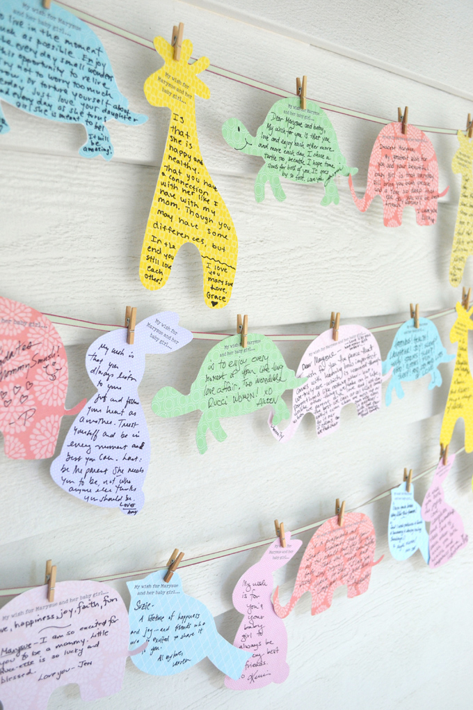 """Wishes for Baby"" baby shower decorating idea"
