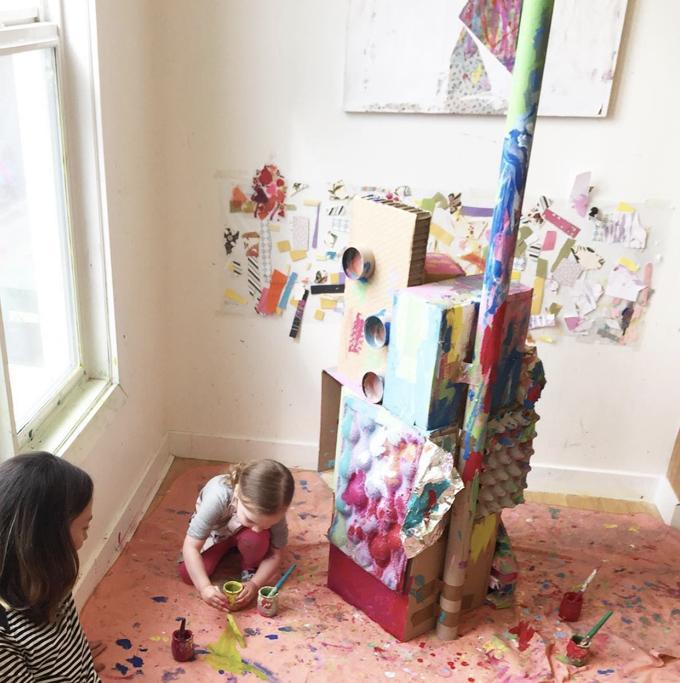 Creation Space, an art studio for children and families in Edmonton, Alberta.