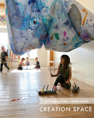 Creation Space, an art studio for children and families in Edmonton, Alberta.