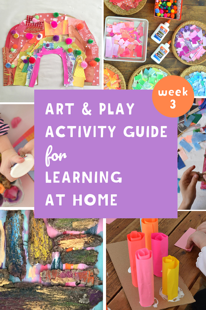 Learning at home with your kids because of the coronavirus? This Art and Play guide will help. Promoting math, literacy and science through art and play.