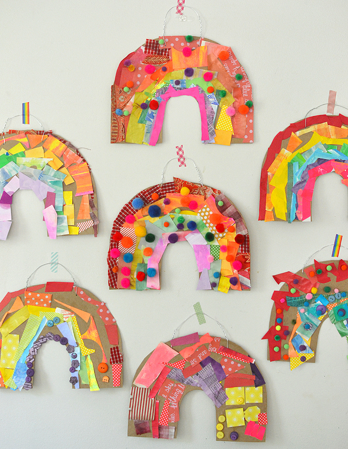 Learning at home with your kids because of the coronavirus? This Art and Play guide will help. Promoting math, literacy and science through art and play. Day 4: Rainbow Collage