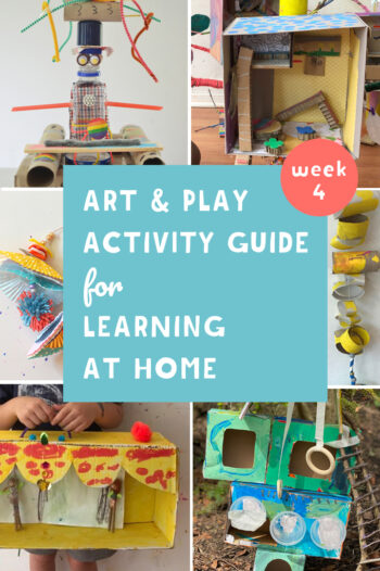 This Art and Play guide for learning at home promotes math, literacy and science through creativity. Join us for construction week.