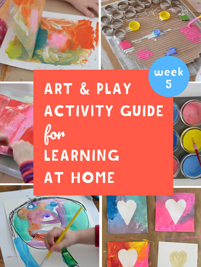 Our Art & Play Guide for Learning at Home will help you navigate these quarantine days. They promote math, literacy, science, and community connection through creativity. Join us for Paint Exploration week!