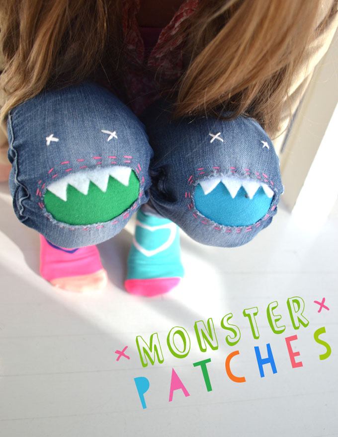 Fix holes in your child's jeans by making Monster Patches.