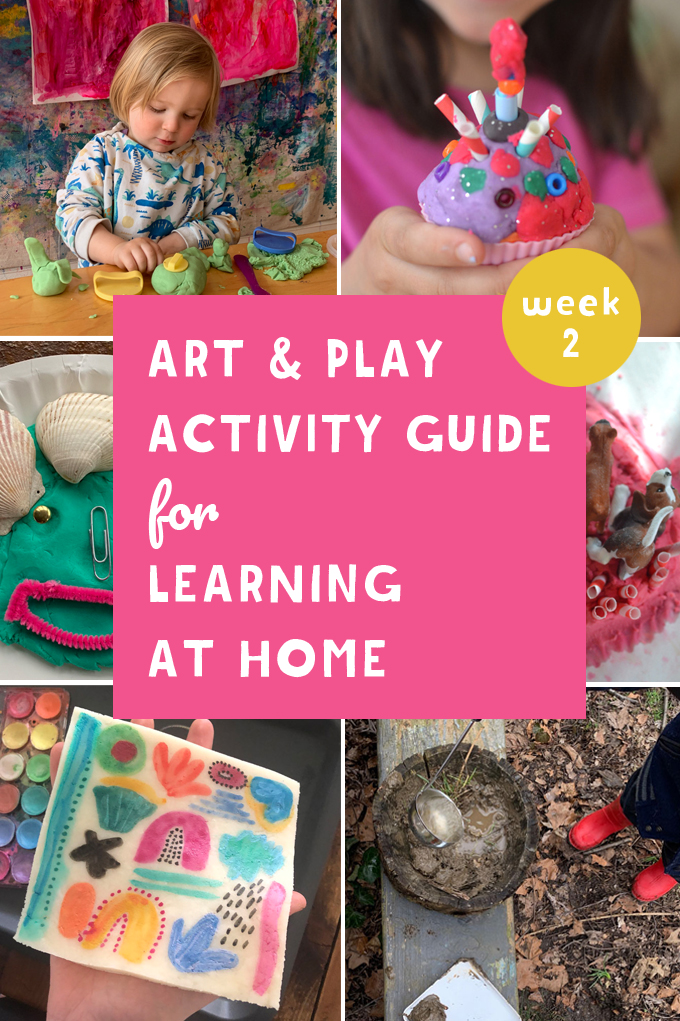 Art + Play Activity Guide Week 2: Playdough + Sensory Play