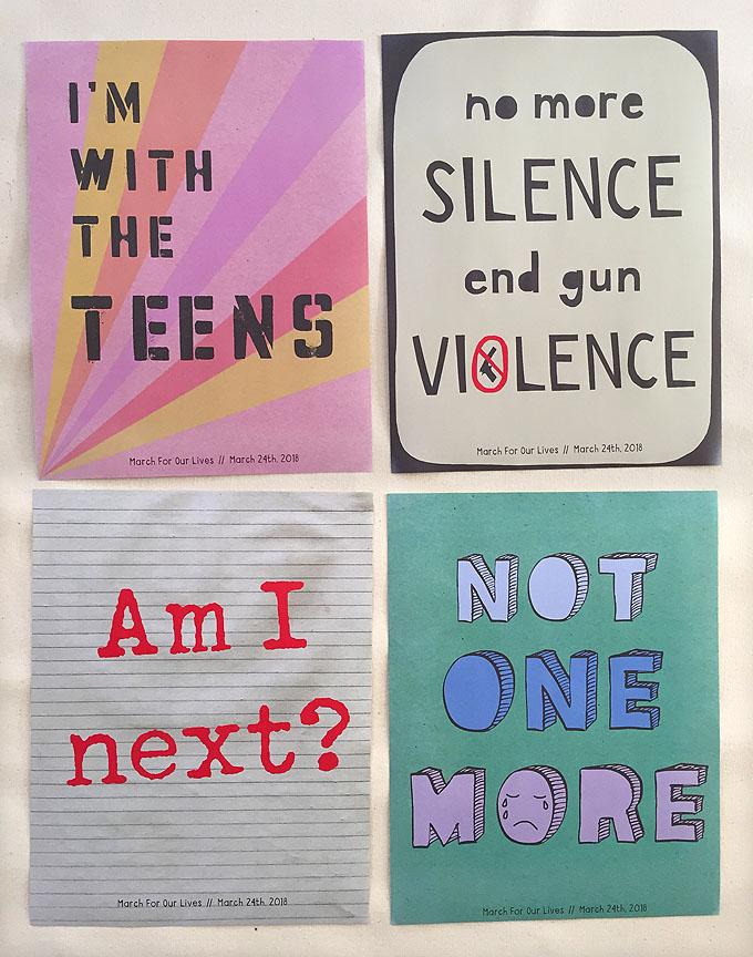 March for our Lives posters