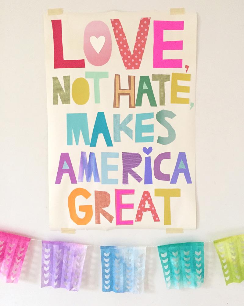 Love Not Hate printable