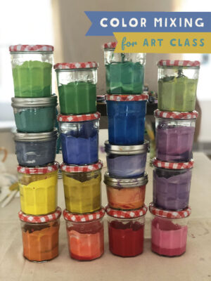 Color mixing tempera paints for art class! In this video I will show you how I make vibrant and opaque colors for use on cardboard, paper, and more. Learn about primary, secondary, and tertiary colors (the best ones to make)!