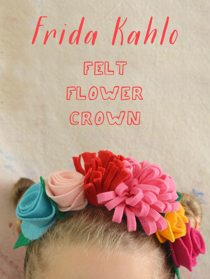 Make Frida Kahlo Felt Flower Crowns