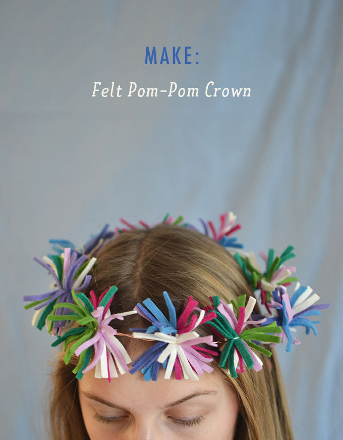 Make a Felt Pom-Pom Crown