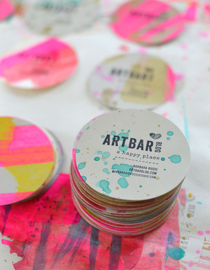Handmade Round Business Cards