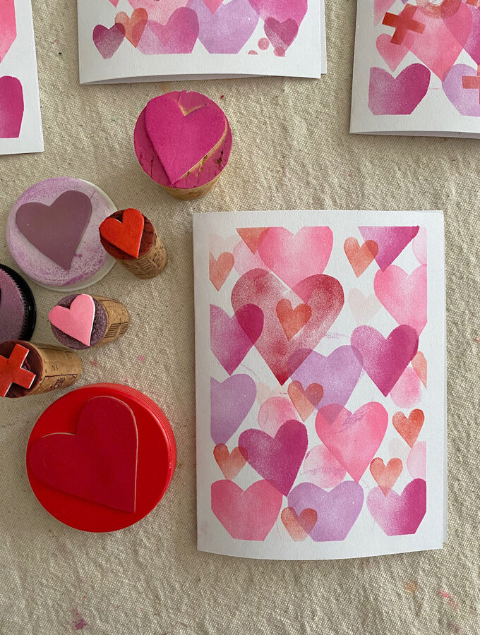 Making Stamps with Craft Foam