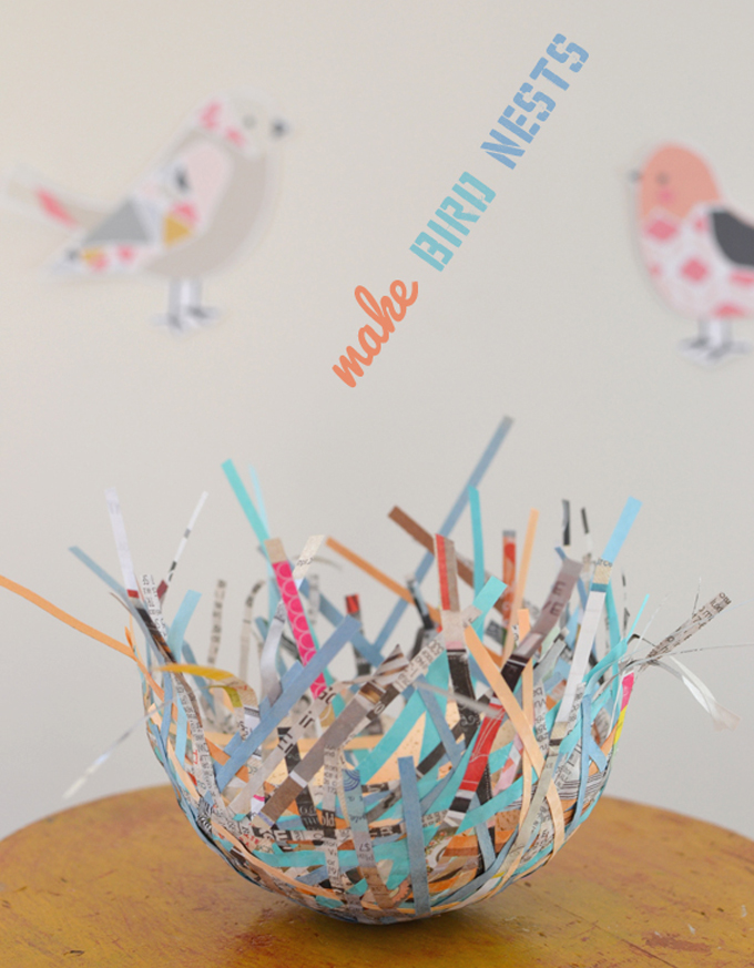 Make Paper Bird Nests with Kids
