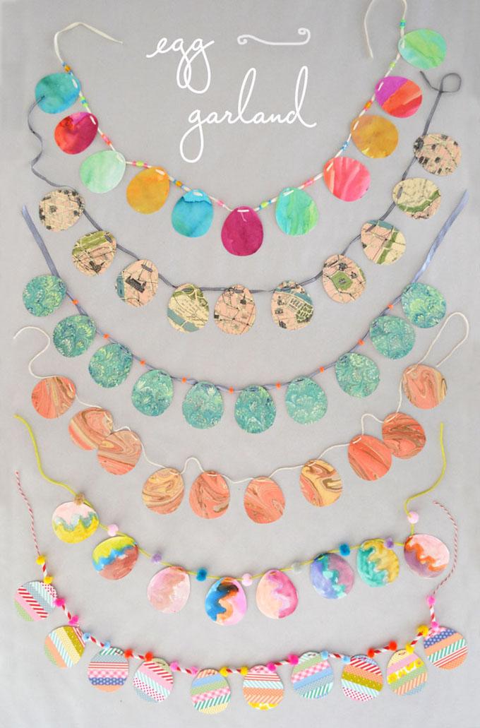 Simple Easter Egg Garland with Kids