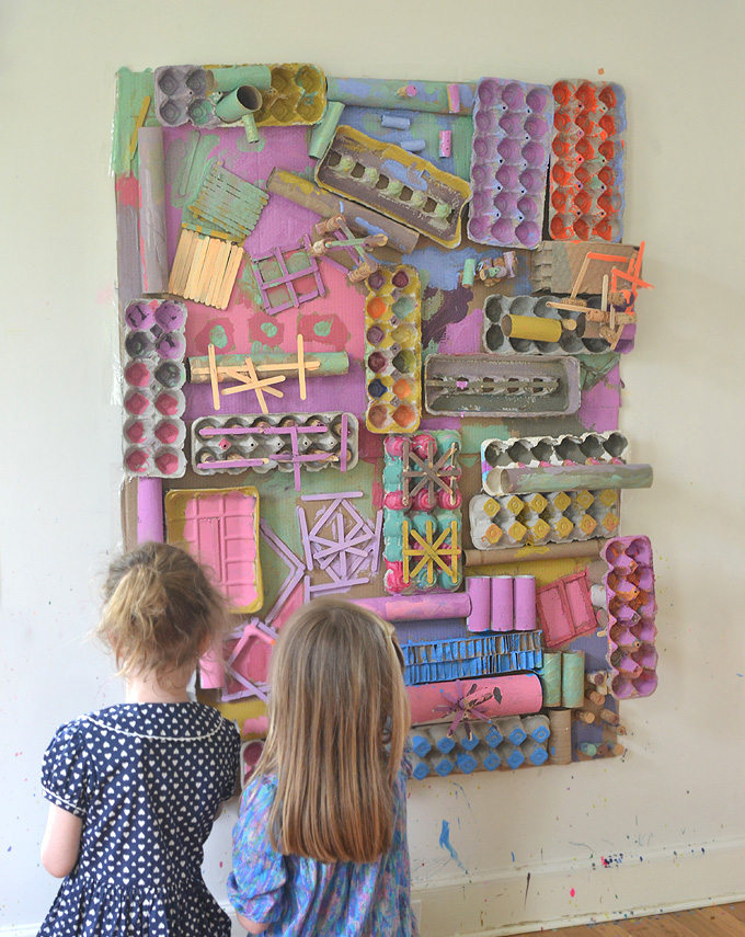 Recycled Art Wall