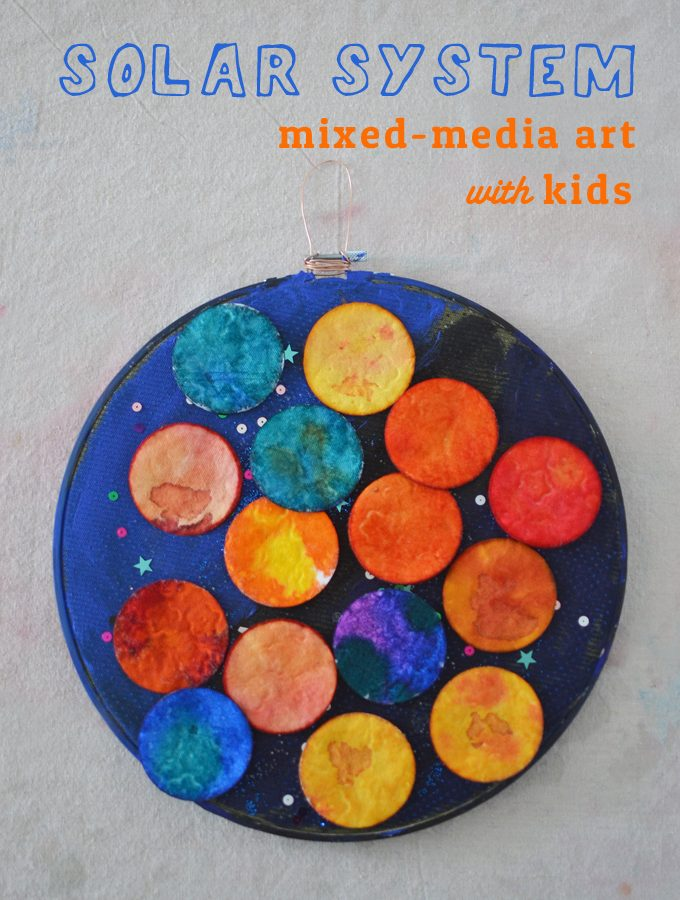 Solar System Mixed-Media Art with Kids