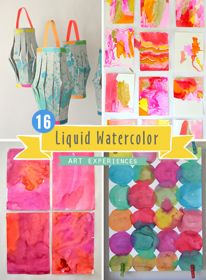 16 Liquid Watercolor Ideas for Kids and Teens.