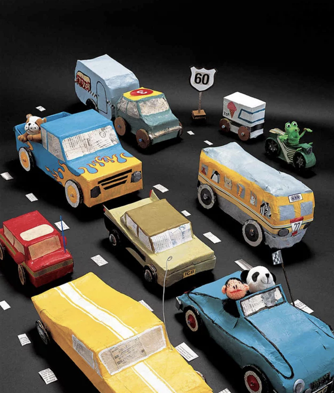 Use paper mache to make toy, cars, and all sorts of other projects.
